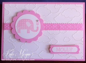 Baby Card for Molly