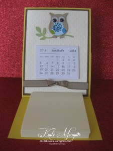 Mini Calendar & Post it note Card