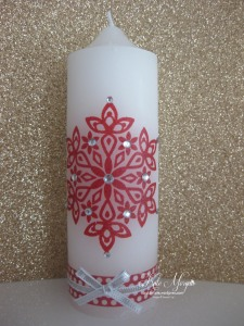 Stamping on Candles