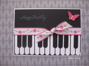 Piano Handmade Card