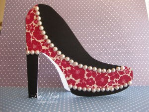 High Heel Shoe Card