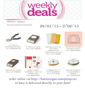 Weekly Deals Stampin' Up!