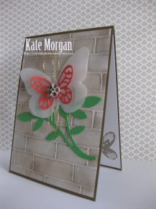 Stampin' Up! Watercolour Wings Brick Wall