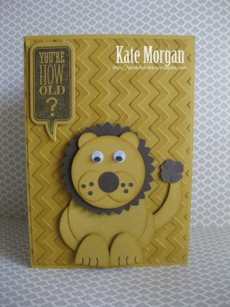 Stampin Up Lion King Punch art