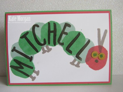 Layered Letters Alphabet Very Hungry Canterpillar #stampinup