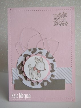 Made With Love Baby Girl Card #stmpinup