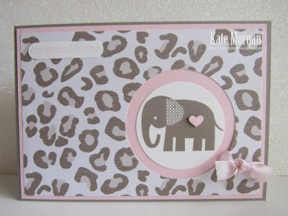 #stampinup Zoo Babies Card