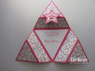 Origami Star Triangle Fold card #stampinup