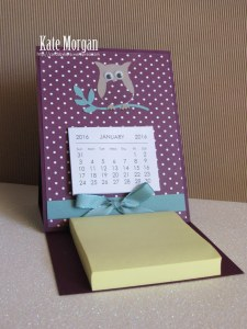 Easel Card & Post it Note #stampinup