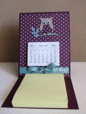 Easel Card & Post it Notes #stampinup