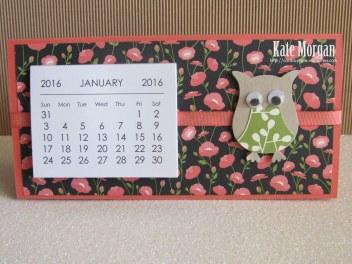 Mini Tab Calendar 5 #stampinup