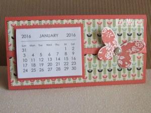 Mini Tab Calendar #stampinup