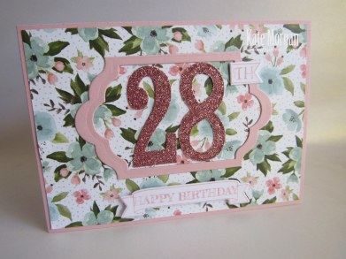 Large Numbers Framelits Number of Years Birthday Bouquet @CardsbyKate #stampinup