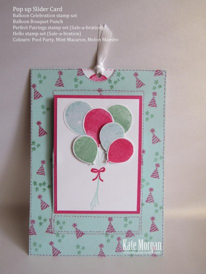Slider Card Balloon Celebration Bouquet #stampinup
