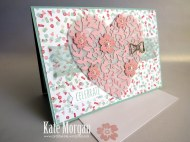 #bloominheartthinlitsdie #loveblossoms #birthdaybouquetdsp #occasions2016 #stampinup #flowers #bowpaperclipsembellishments