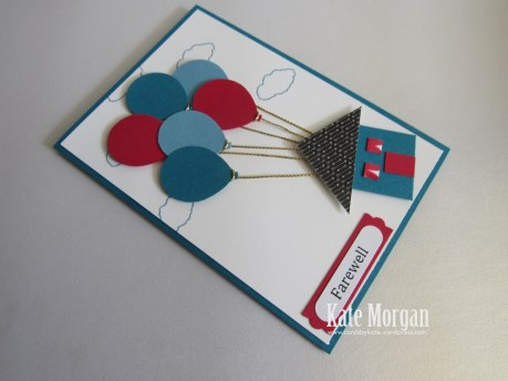 Balloon Bouquet Punch, Masculine, Farewell card, #StampinUp, Occasions 2016