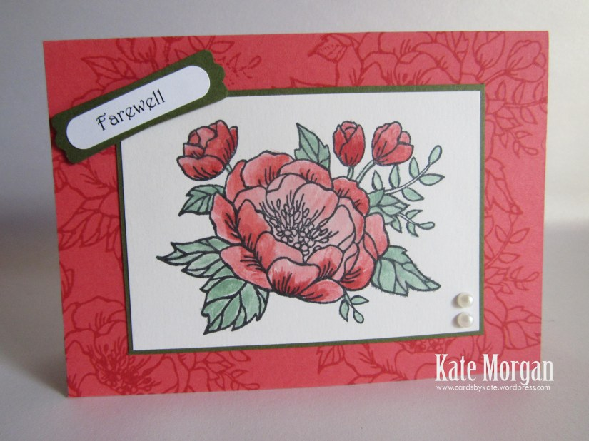 Birthday Blooms, Farewell Handmade Card, DIY, Occasions 2016  #stampinup