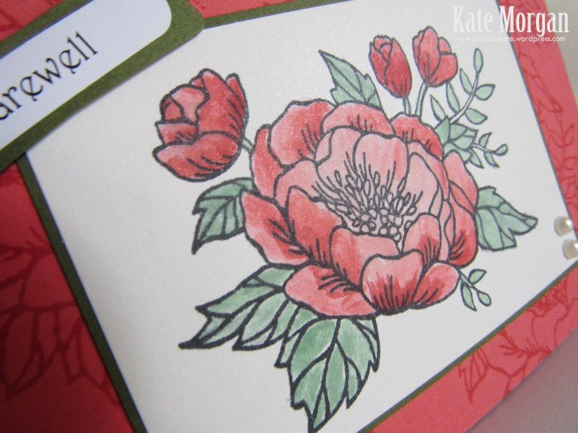 Birthday Blooms stamp set, Farewell Handmade Card, DIY, Occasions 2016  #stampinup