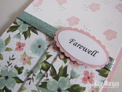Birthday Bouquet DSP, Birthday Blooms, Pleat Fold, Feminine Handmade card, Farewell, #stampinUp, Occasions 2016