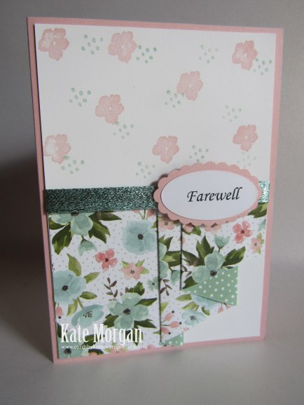 Birthday Bouquet DSP, Pleat Fold, Feminine Handmade card, Farewell, Stampin Up, Occasions 2016