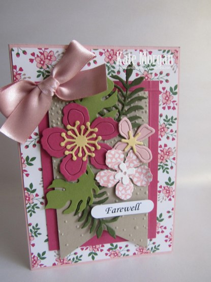 Botanical Builder Framelits, Love Blossoms DSP, Farewell Handmade Card, DIY,  #stampinup
