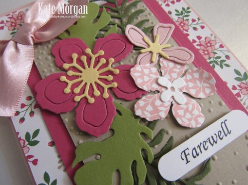 Botanical Builder Framelits, Love Blossoms DSP, Farewell Handmade Card, DIY,  Stampinup