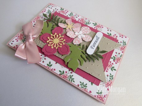 Botanical Builder Framelits, Love Blossoms DSP, Farewell Handmade Card, DIY,  #stampinupaustralia