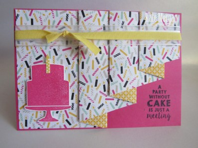 Its My Party DSP, Party Wishes, Party Punch Pack, Pleat Fold Card, Stampin Up, Occasions 2016