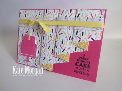 Its My Party DSP, Party Wishes, Party Punch Pack, Pleat Fold Card, #StampinUp, Occasions 2016