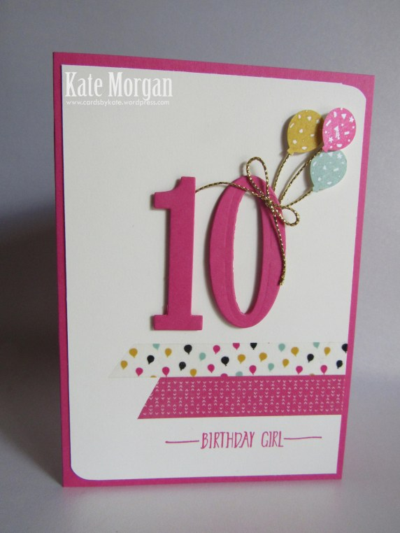 Number of Years, Its My Party, Washi Tape, Party Punch Pack, Occasions 2016 #stampinup
