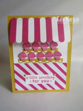 Party Punch Pack, Party Wishes, cupcake stand, Feminine Handmade card, Stampin Up, Occasions 2016