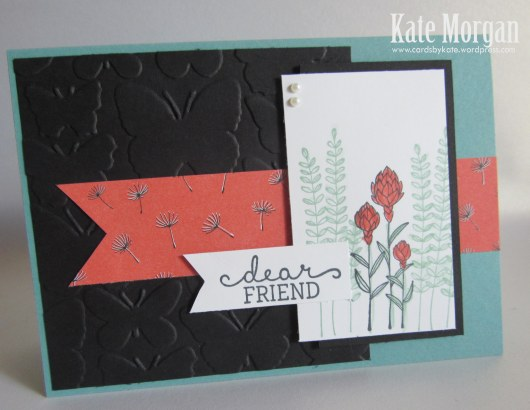 Wildflower Fields DSP, Flowering Fields, Feminine Handmade card, Stampin Up, Saleabration 2016