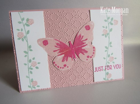 Butterflies Thinlits, Foral Wings,Feminine Handmade card, Farewell, Stampin Up
