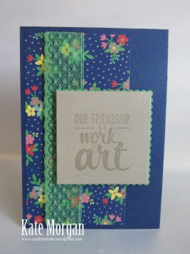 Affectionately Yours DSP, Painter's Palette, Layering Squares Framelits, DIY, #stampinup