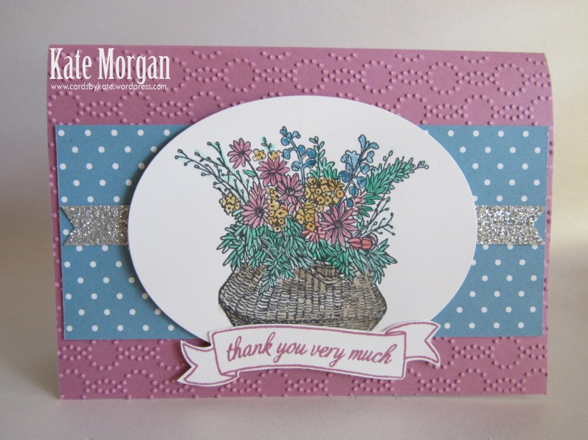 Basket for You, #stampinup, Elegant Dots TIEF, #stampinupaustralia, 2016-2017 Hostess set, DIY, Feminine Handmade card