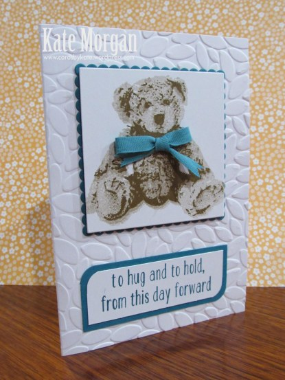 Baby Bear, DIY, #stampinup, Handmade card, Stampin Up 2016, Layered Square Framelits, TIEF