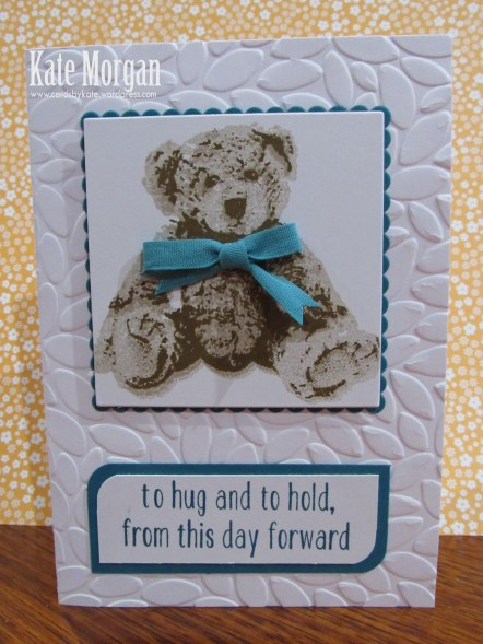 Baby Bear, DIY, #stampinup, Handmade card, Stampin Up 2016, Layered Square Framelits