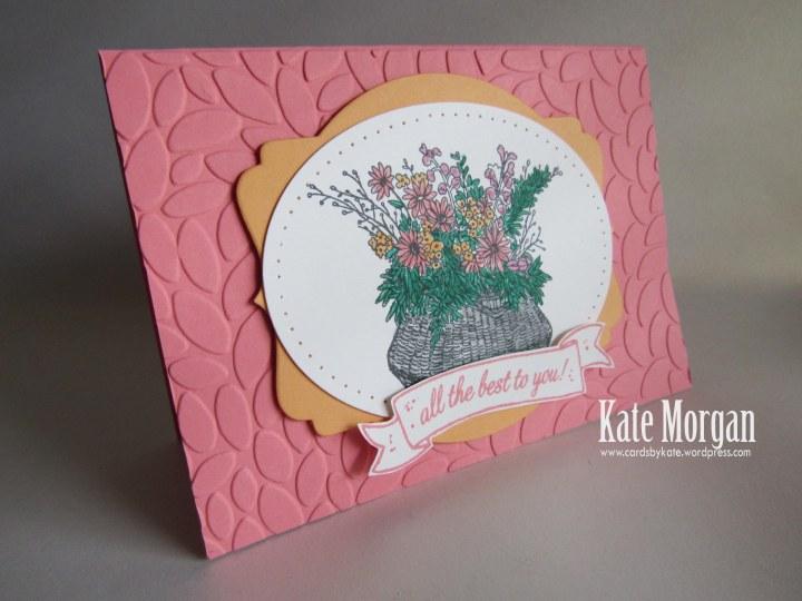 Basket For You, Petal Burst TIEF, #stampinup, 2016, #stampinupaustralia, Feminine Handmade Card, DIY
