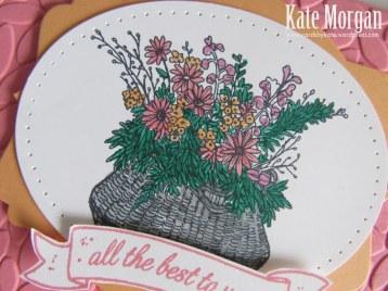 Basket For You, Petal Burst TIEF, #stampinup, DIY, 2016, #stampinupaustralia, Feminine Handmade Card, Oval Framelits