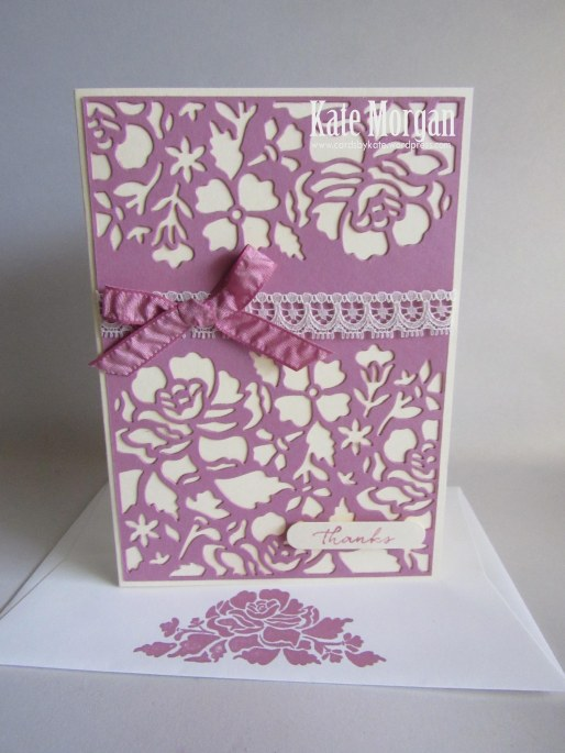 Floral Phrases, Detailed Floral Thinlits, #stampinup, Thank you, 2016, #stampinupaustralia, Feminine Handmade Card, DIY