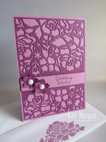 Floral Phrases, Detailed Floral Thinlits, #stampinup, Wedding Wishes, 2016, #stampinupaustralia, Feminine Handmade Card, DIY
