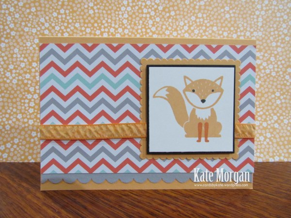 Foxy Friends, Fox, DIY, #stampinup, Handmade card, Stampin Up 2016