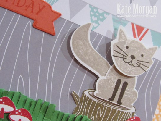 Foxy Friends, Kitty Cat, 7th Birthday, DIY, #stampinup, Handmade card, Large Number thinlits