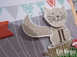 Foxy Friends, Kitty Cat, 7th Birthday, DIY, #stampinup, Handmade Card
