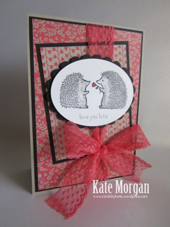 Love You Lots, Affectionately Yours DSP,  #stampinup, Hedgehogs, 2016, #stampinupaustralia, Feminine Handmade Card, DIY, Watermelon Wonder, Hostess Set