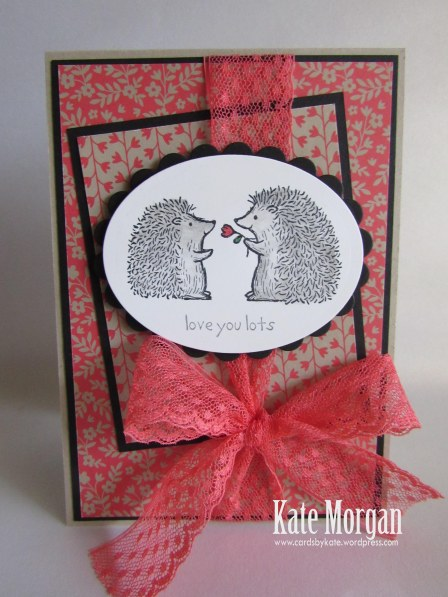 Love You Lots, Affectionately Yours DSP,  #stampinup, Hedgehogs, 2016, #stampinupaustralia, Feminine Handmade Card, DIY, Watermelon Wonder, SU Hostess Set
