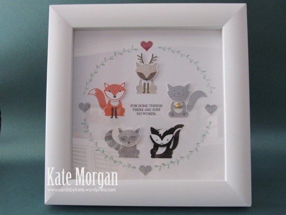 Shadow Box, Foxy Friends, DIY, #stampinup, Handmade, 2016