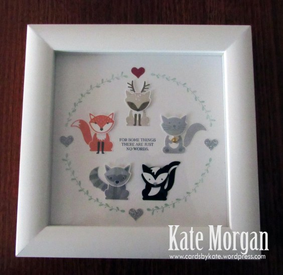 Shadow Box, Foxy Friends, DIY, #stampinup, Handmade