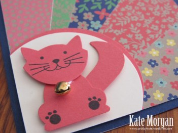 Affectionately Yours Foxy Friends Cat Sunburst Feminine handmade card #stampinup DIY, @cardsbykate