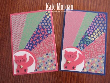Affectionately Yours Foxy Friends Cat Sunburst Feminine handmade card #stampinup, DIY, @cardsbykate